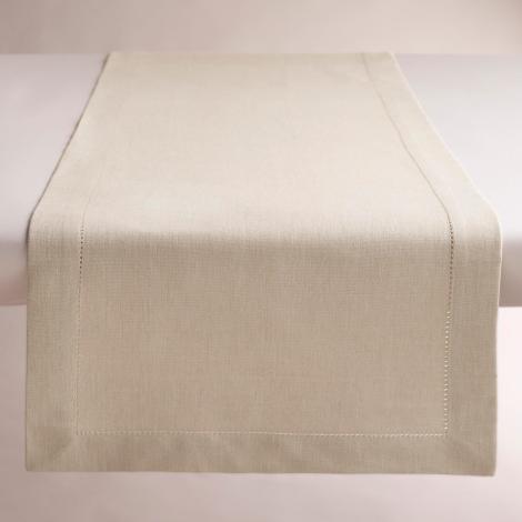 """Q2 Kitchen Textiles / Dept 7 458620_HEMSTITCH RNNR 16X90"""" PARCHMNT"""