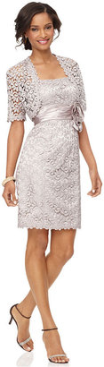 R and M Richards lace sheath dress and jacket