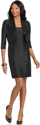 Tahari by Arthur S Levine Shantung Sheath dress and jacket