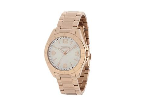 COACH Tristen Rosegold Plated Bracelet Watch
