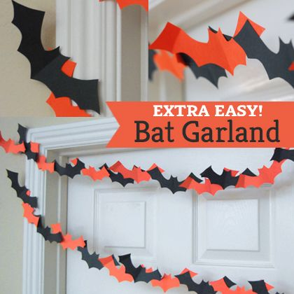 easy bat garland