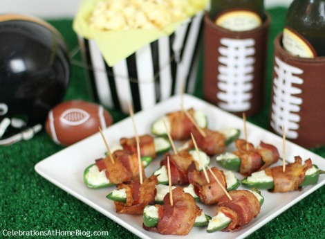 Football Party bacon jalapeno poppers