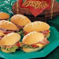 Football Party Football Sandwiches