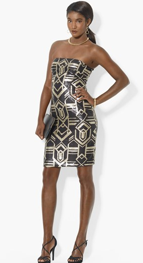 Sequin Pattern Sheath Dress by Lauren by Ralph Lauren