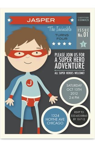 Cute Superhero Invite