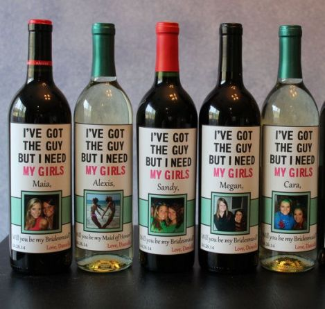 Will you be my bridesmaid wine label2