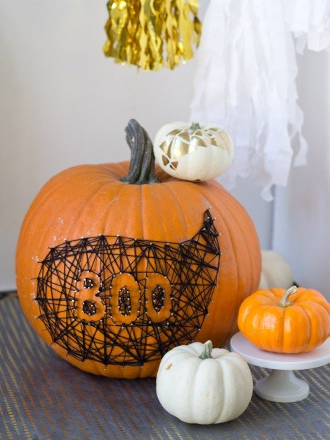 pumpkin string boo