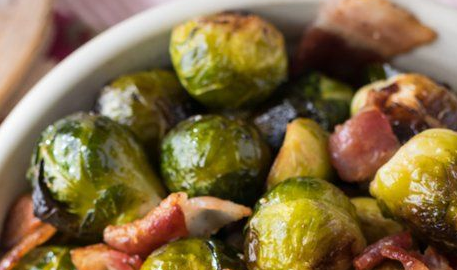 Oven Roasted Brussel Sprouts and Bacon