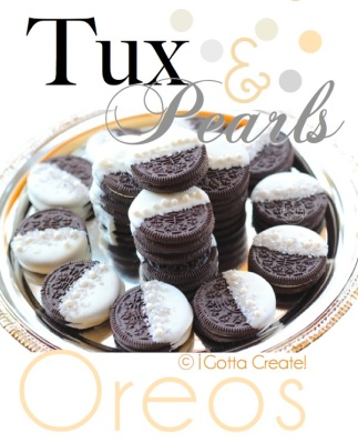 tux and pearls oreos