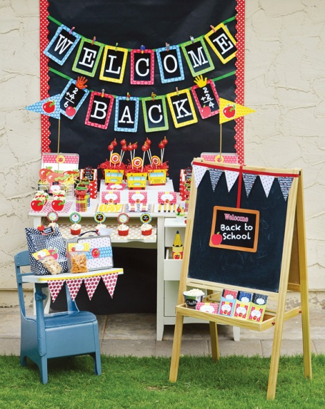 Back to School Party by The Hostess with the Mostess Blog